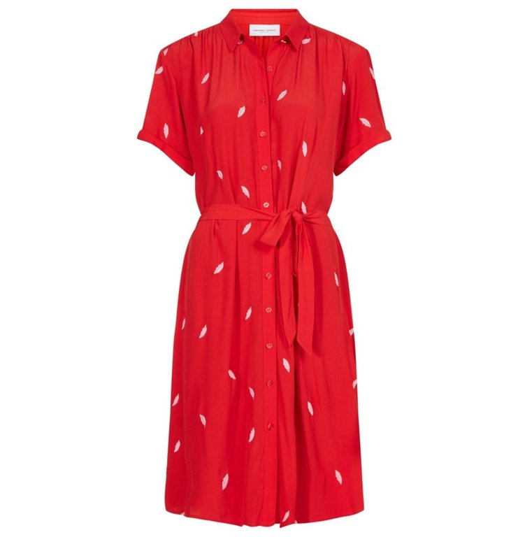Fabienne Chapot Fabienne Chapot Red Dress Boyfriend Embroidery