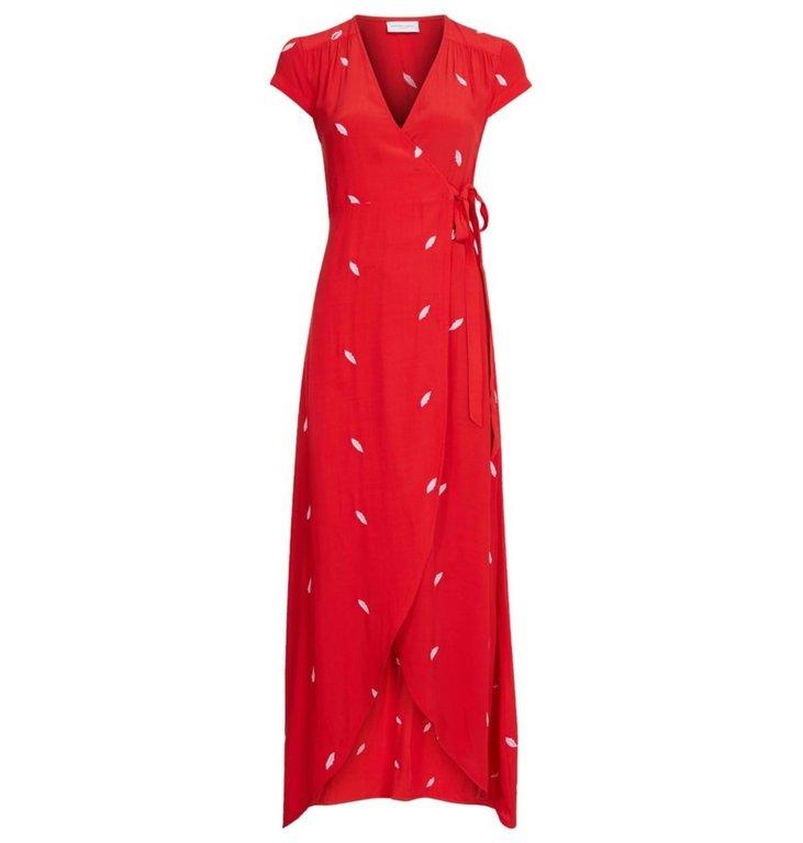 Fabienne Chapot Fabienne Chapot Red Dress Archana Embroidery Dress