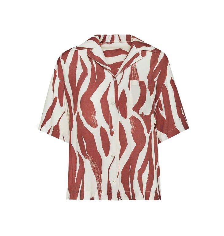 Anine Bing Anine Bing Red Benji Shirt AB45