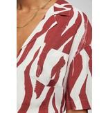 Anine Bing Red Benji Shirt AB45