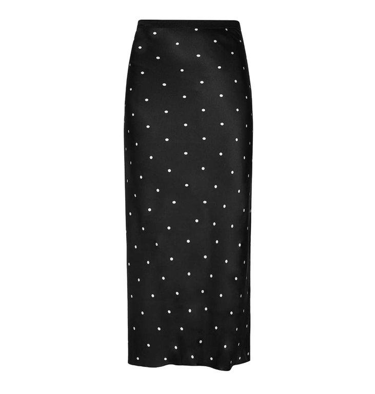 Anine Bing Anine Bing Black Bar Silk Skirt AB34