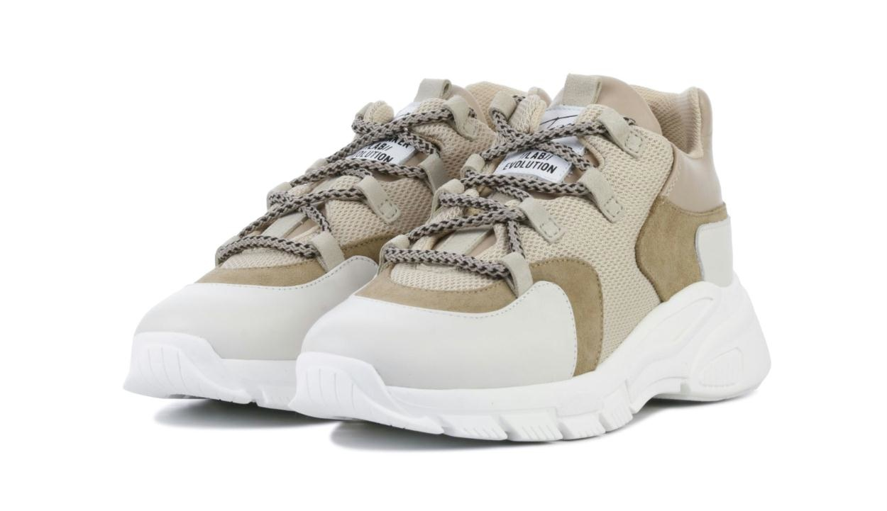 Toral Shoes Beige Tech Sneakers TL