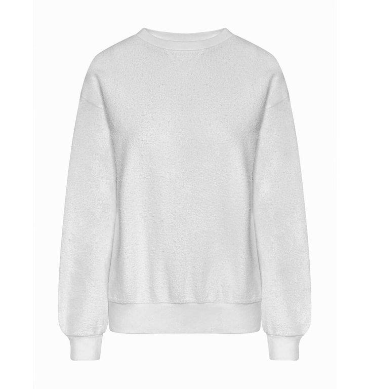 Anine Bing Anine Bing White Lou Sweatshirt AB47