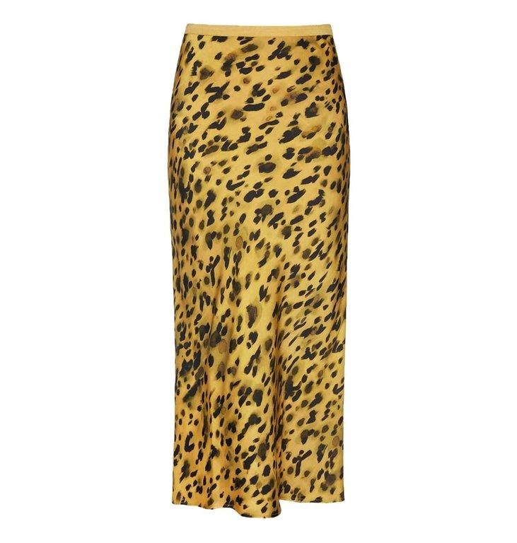 Anine Bing Anine Bing Leopard Bar Silk Skirt AB34