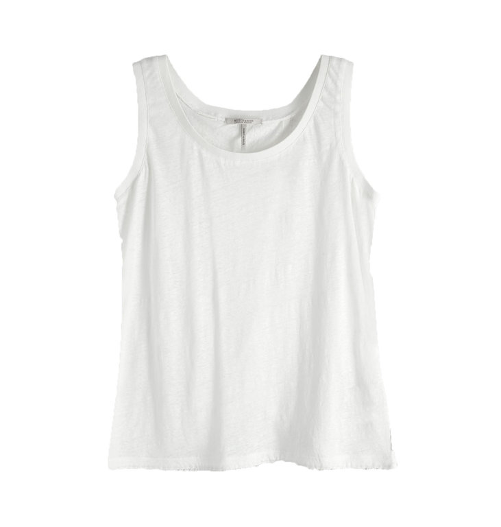 Maison Scotch Maison Scotch White Linnen Top 150233