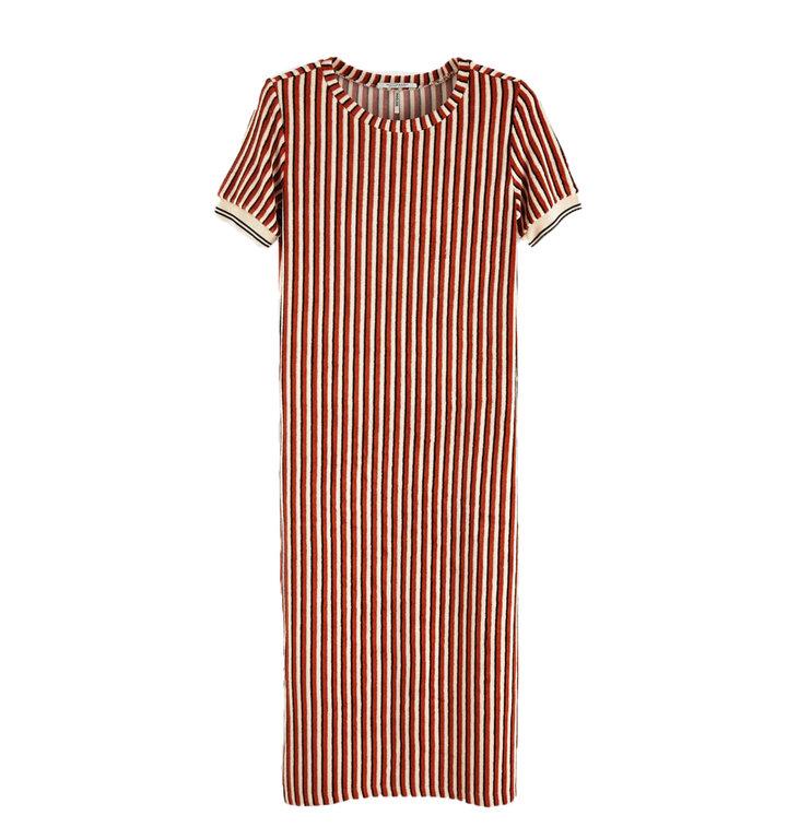 Maison Scotch Maison Scotch Striped Midi Dress 149868