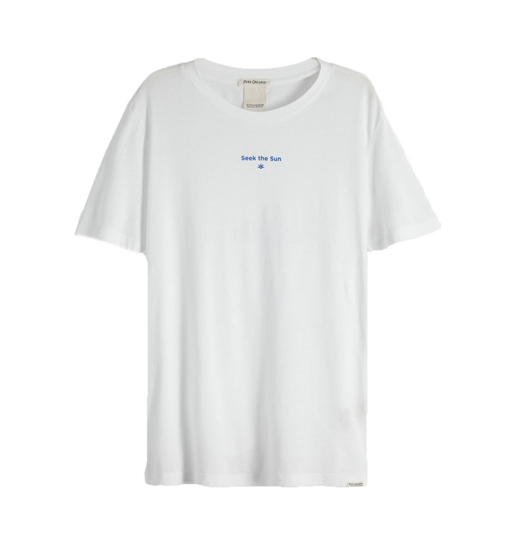 Maison Scotch Maison Scotch White Organic Cotton Tee 150210