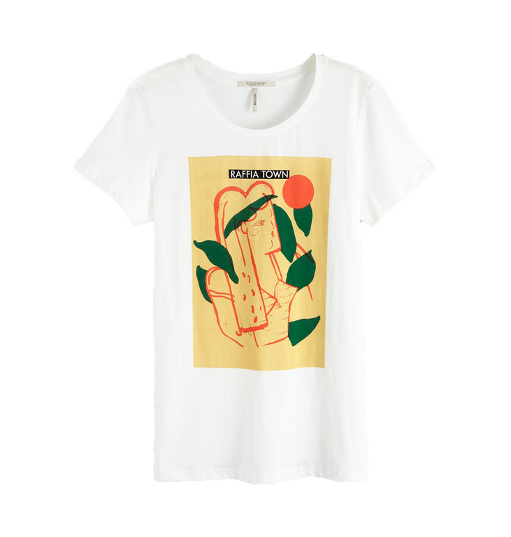 Maison Scotch Maison Scotch White Artwork T-shirt 150159