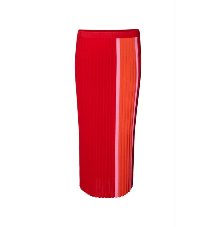 Marc Cain Marc Cain Red Midi Skirt MC7102
