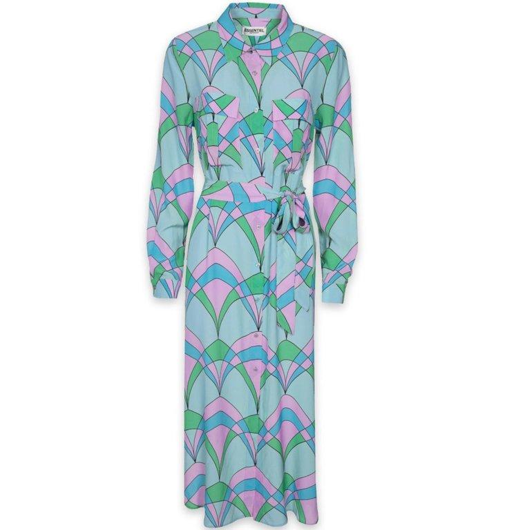 Essentiel Antwerp Essentiel Antwerp Blue Retro Printed Dress Trootroo