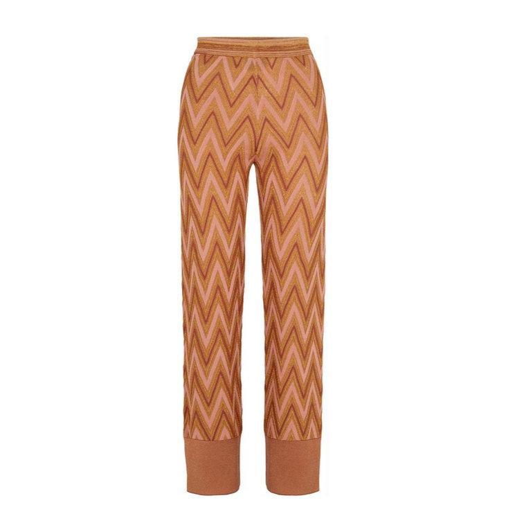 Second Female Second Female Orange Bea Knit Trousers 52339