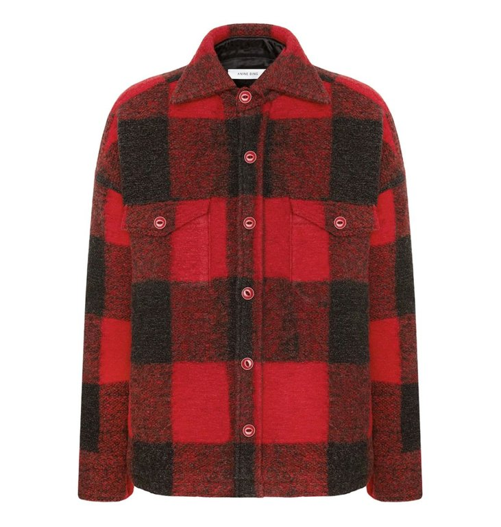 Anine Bing Anine Bing Red Bobbi Flannel Jacket AB
