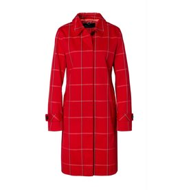 Marc Cain Marc Cain Red Check Coat MS1103