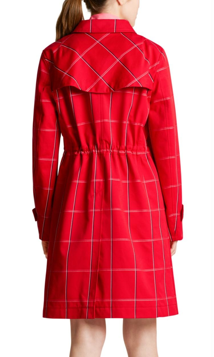 Marc Cain Red Check Coat MS1103