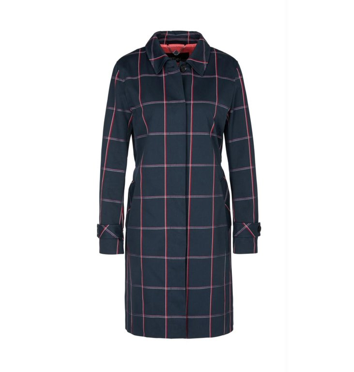 Marc Cain Marc Cain Navy Check Coat MS1103