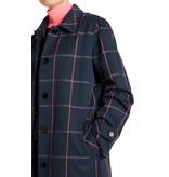Marc Cain Navy Check Coat MS1103