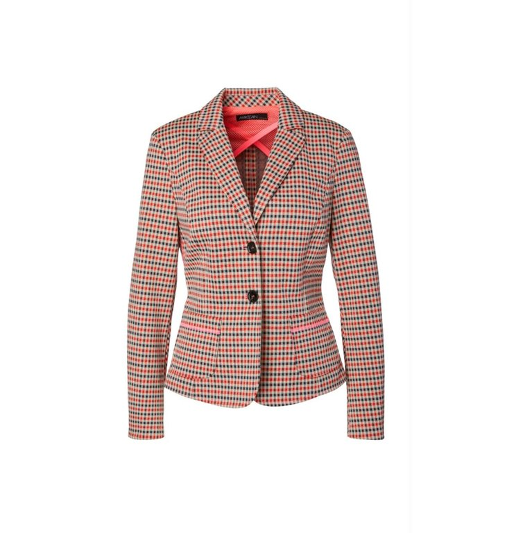 Marc Cain Marc Cain Plaid Blazer MS3404