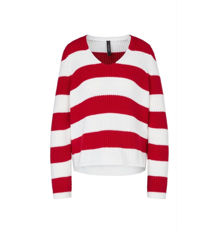 Marc Cain Marc Cain Red/White Knit MS4107