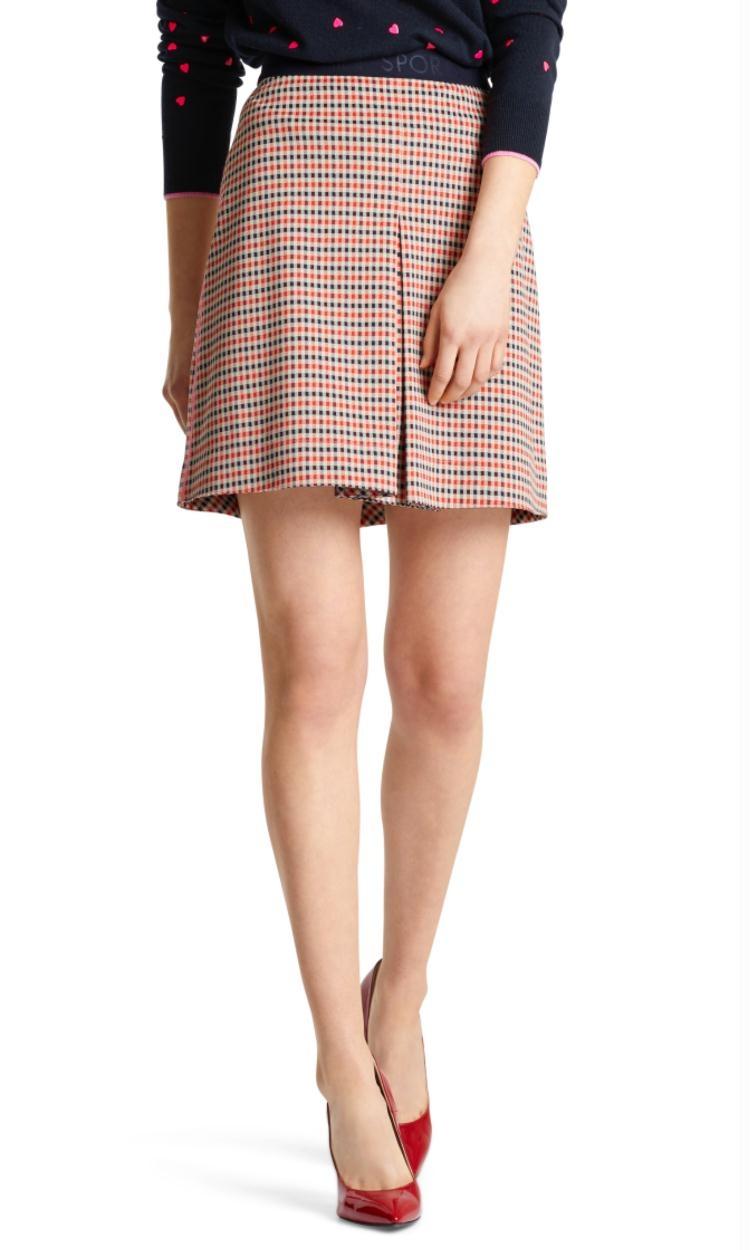 Marc Cain Plaid Skirt MS7109