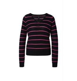 Marc Cain Marc Cain Black Striped Knit MS4113