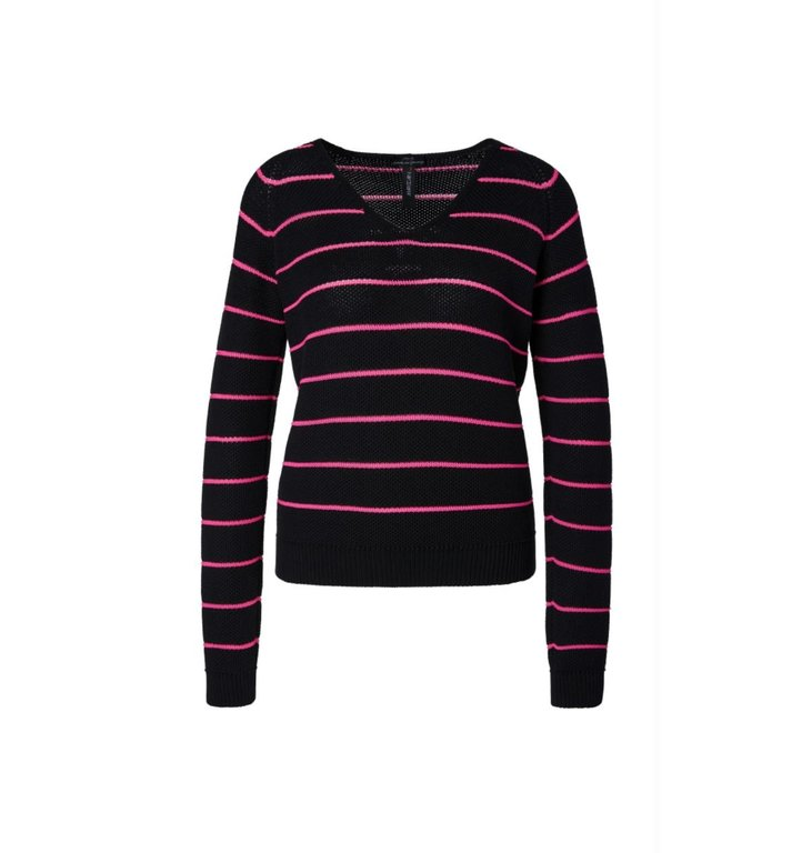 Marc Cain Marc Cain Black Striped Knit MS4113