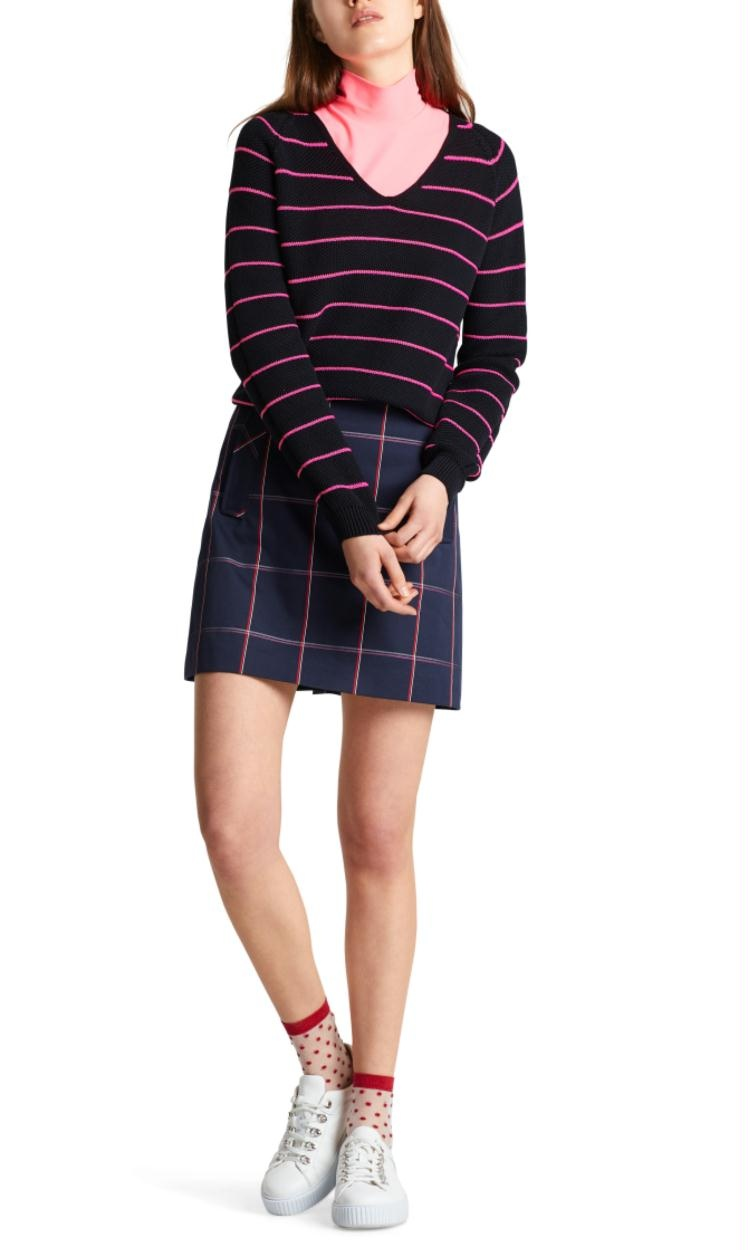 Marc Cain Black Striped Knit MS4113