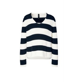 Marc Cain Marc Cain Navy Striped Knit MS4107