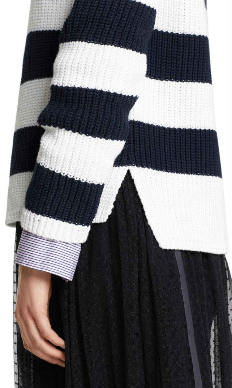 Marc Cain Navy Striped Knit MS4107