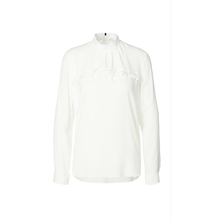 Marc Cain Marc Cain White Ruffle Blouse MS5103