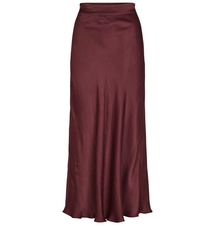 Second Female Second Female Bordeaux Midi Skirt Eddy
