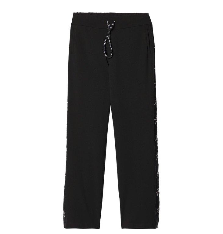 10Days 10Days Black Smoking Pants Palm Tape 20.041.9103