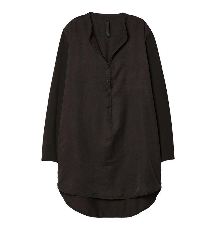 10Days 10Days Black Silk Tunic Dress 20.334.9103