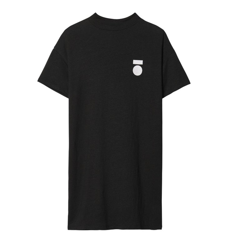 10Days 10Days Black Turtle Neck Linen Dress 20.310.9103/7