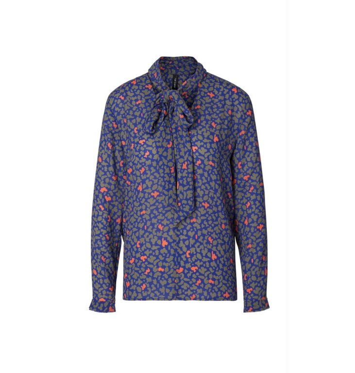 Marc Cain Marc Cain Blue Print Blouse MC5110