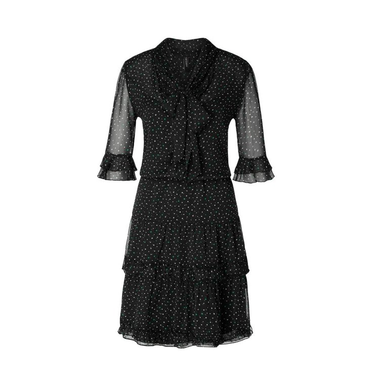 Marc Cain Marc Cain Black Print Dress MC2108