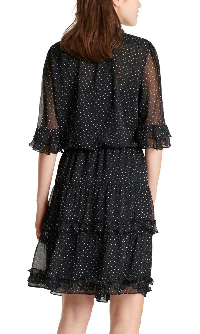 Marc Cain Black Print Dress MC2108
