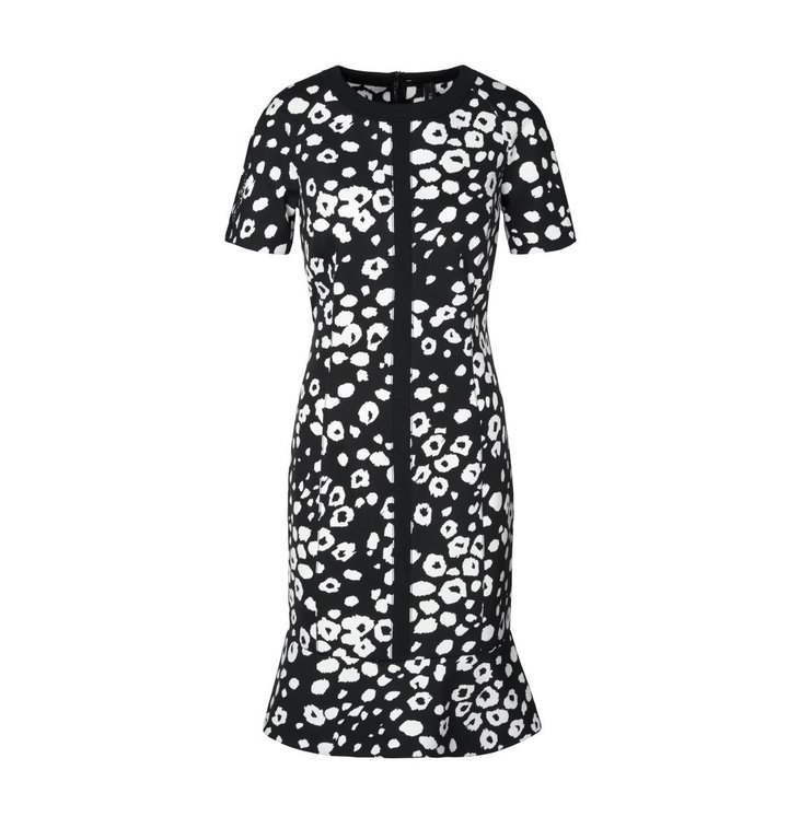 Marc Cain Marc Cain Black/White Print Dress MC2118