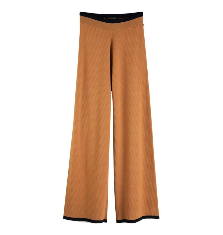 Maison Scotch Maison Scotch Camel Knitted Wide Leg Pants 152667