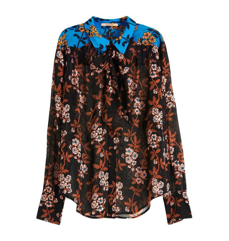 Maison Scotch Maison Scotch Brown Mixed Print Shirt 152454