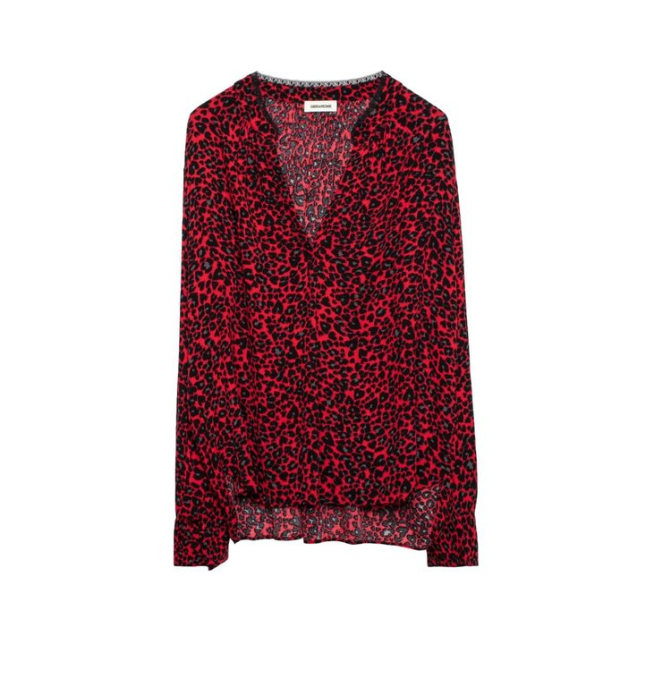 Zadig & Voltaire Zadig & Voltaire Red Tink Print Leo Tunic WHCG0402F