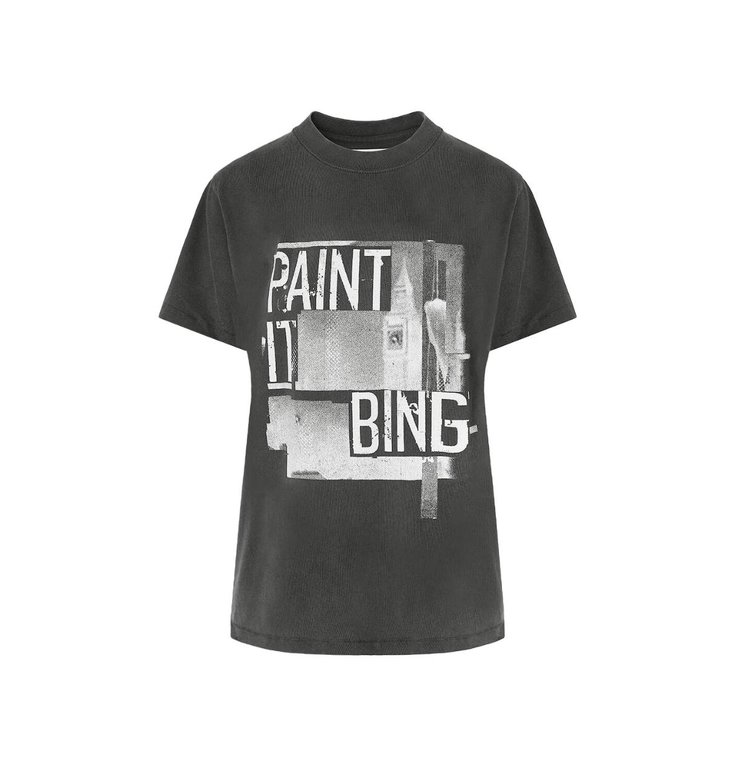 Anine Bing Anine Bing Anthraciet Georgie Tee Paint It AB40