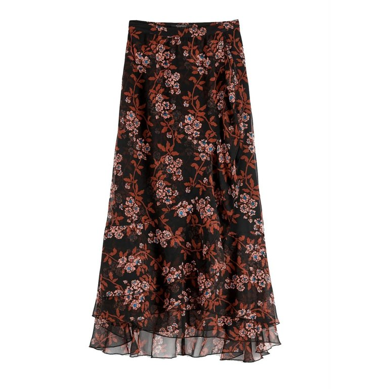 Maison Scotch Maison Scotch Multicolour Printed Maxi Skirt 152581