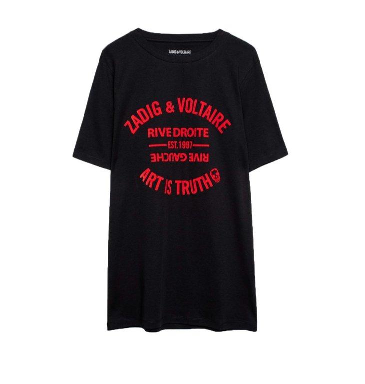 Zadig & Voltaire Zadig & Voltaire Black Bella Blason Shirt WHTR1806F