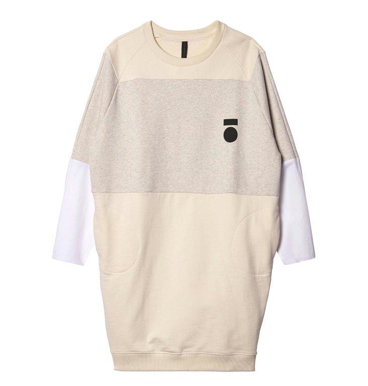 10Days 10Days Ecru Oversized Sweater Dress 20.341.9103/8