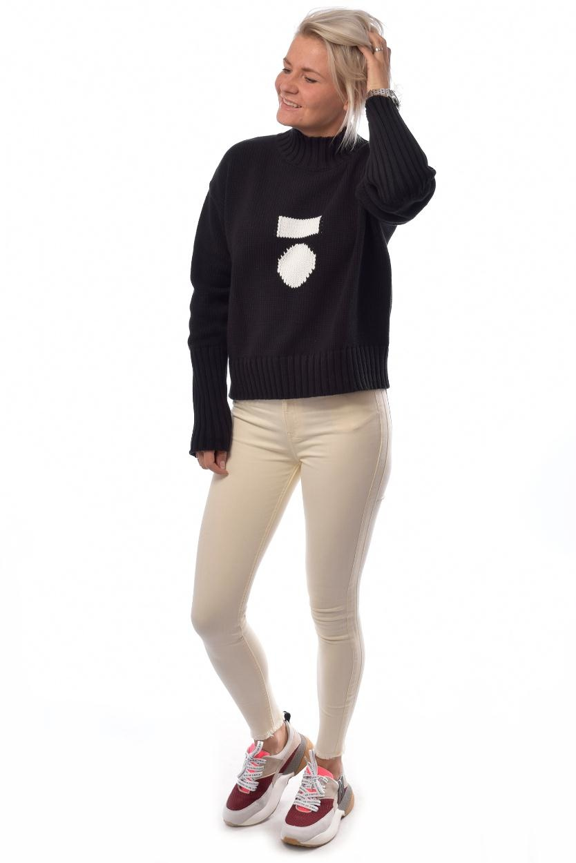 10Days Black Big Sweater 20.603.9103/8