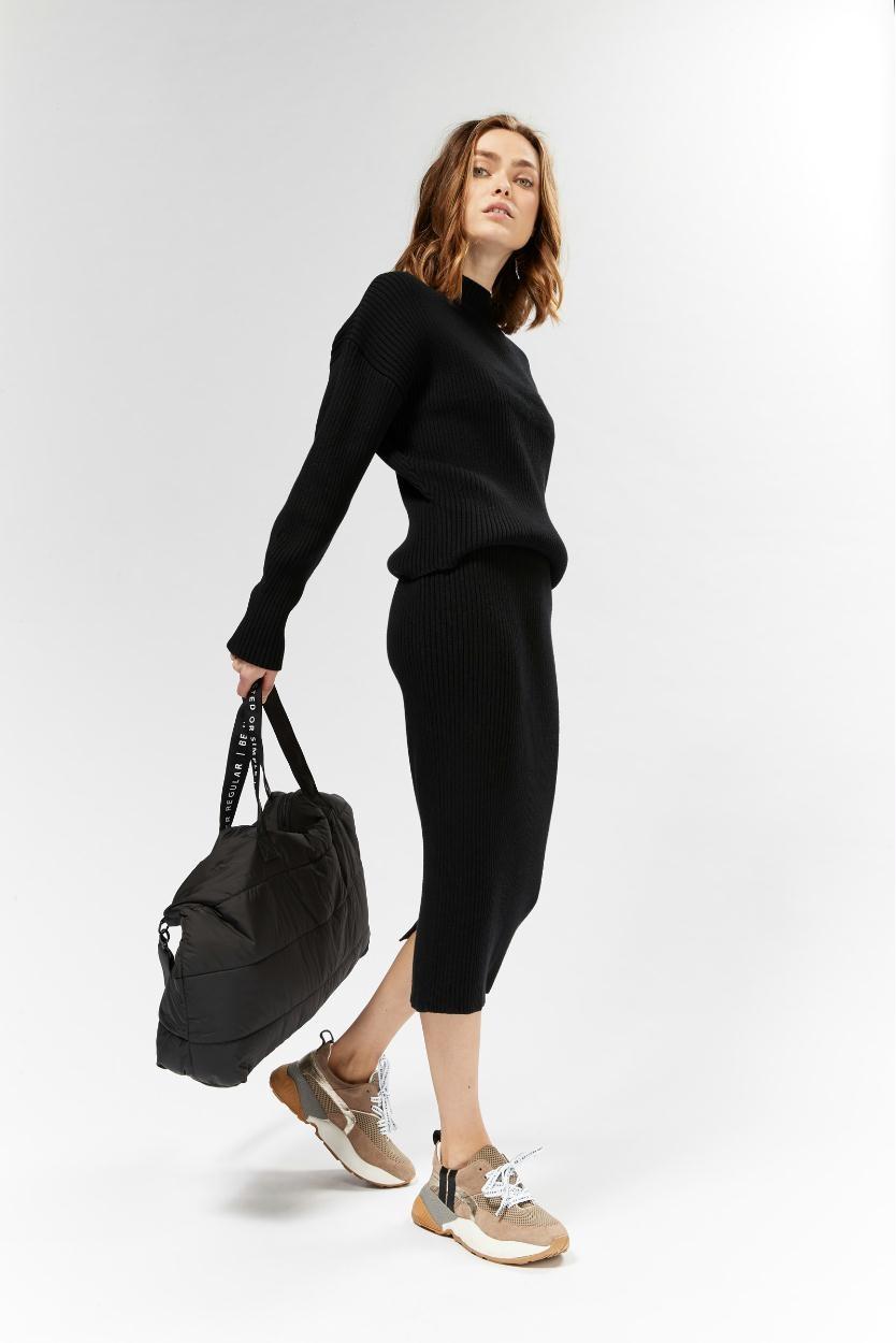 10Days Black Sweater Rib 20.604.9103/8