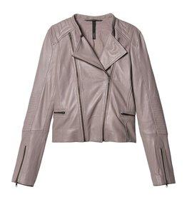 10Days 10Days Grey Leather Biker Jacket 20.516.9103/8