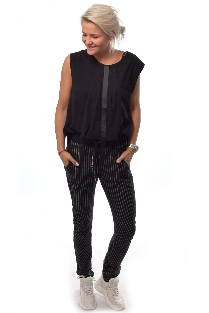 10Days Black Banana Pants Text 20.001.9103/8
