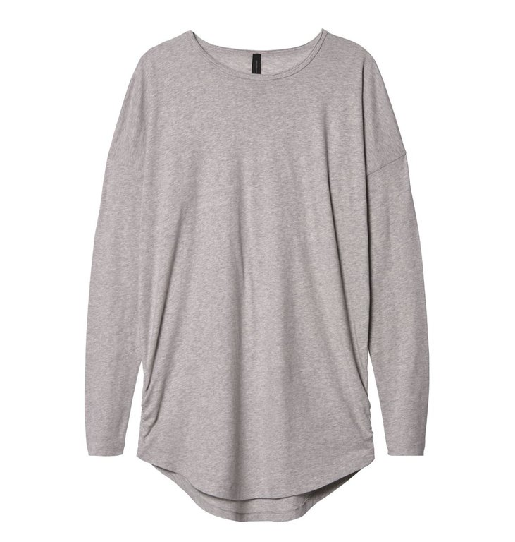 10Days 10Days Light Grey Melee Long Tee 20.782.9103/8