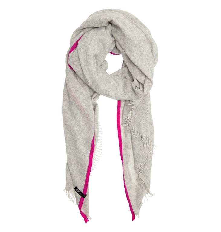 10Days 10Days Light Grey Melee Scarf Fluor Stripes 20.904.9103/8